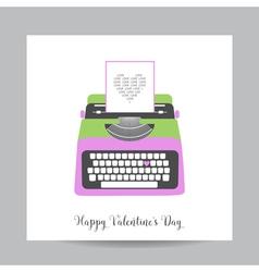 Love Card with Typewriter - Wedding Valentines Day vector