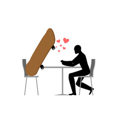 Lover skateboarding skateboard and skateboarder vector