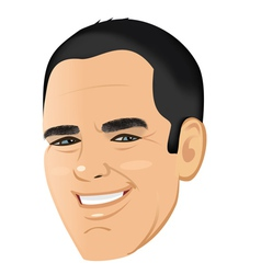 male face shaven unshaven vector image