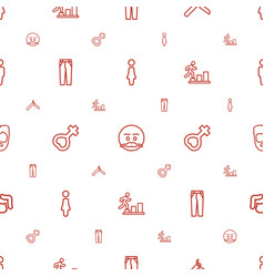 Men icons pattern seamless white background vector
