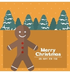 Merry christmas coockie design vector