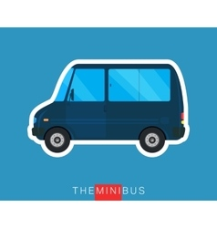Mini bus isolated vector image vector image