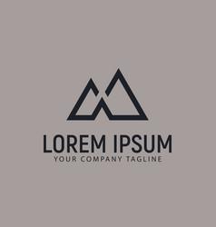 Modern minimalist mountain logo design concept vector