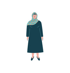 Muslim woman in hijab modern arab girl character vector
