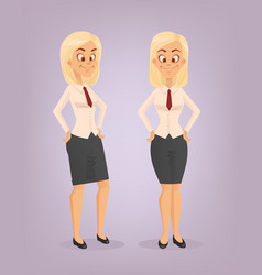 office worker woman character set vector image