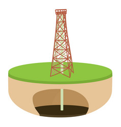 oil derrick icon cartoon style vector image