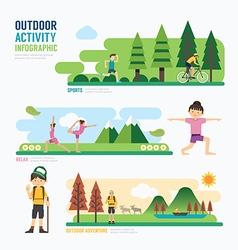 Parks and outdoor activityTemplate Design Infograp vector