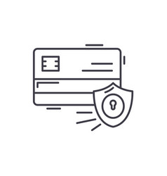 payment security line icon concept payment vector image