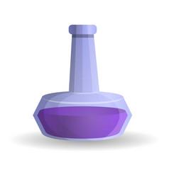 purple potion icon cartoon style vector image