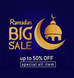 Ramadan sale up to 50 off special all item vector