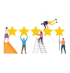 Rating on customer service vector