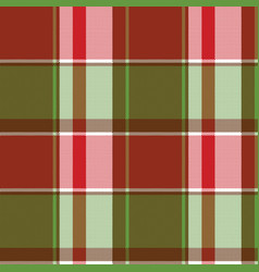 red green abstract plaid seamless pixel pattern vector image