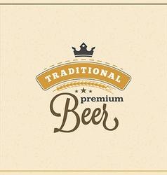 Retro Design Element Badge Logotype Label for Beer vector