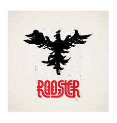 rooster logo template with original lettering the vector image