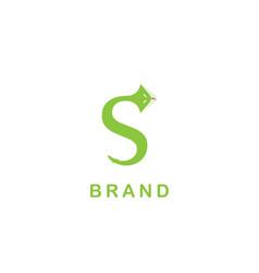 S snake logo vector