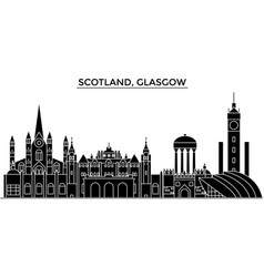 Scotland glasgow architecture city skyline vector