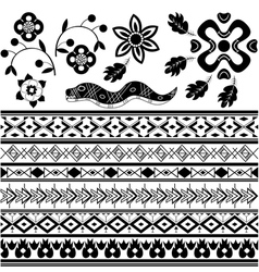 Set of ancient American ornaments vector
