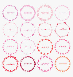 set of round frames for decoration vector image