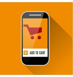 Shopping Online with Smartphone vector image
