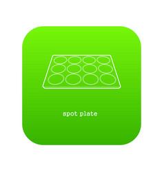 Spot plate icon green vector
