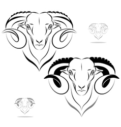 Stylized ram head vector