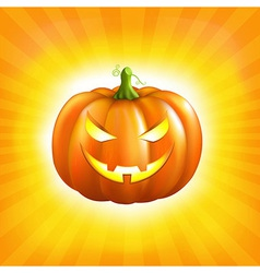 Sunburst Halloween Background vector image