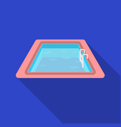 Swimming pool icon in flat style isolated on white vector