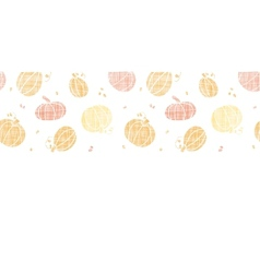 thanksgiving pumpkins textile horizontal border vector image vector image