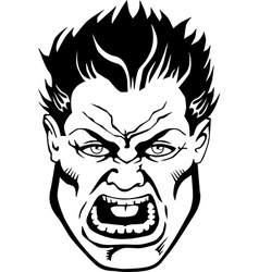 Tough guy comic book face vector image