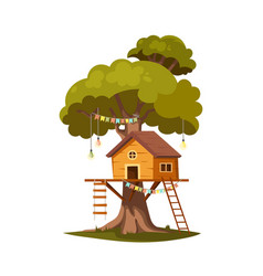 tree house for kids vector image