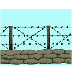 Trenches world war one sandbags vector