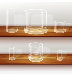 Whiskey shot glass vector image