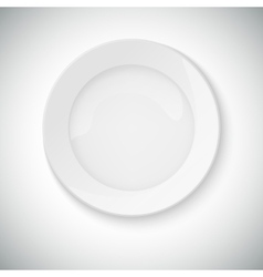 White plate with shadow vector image