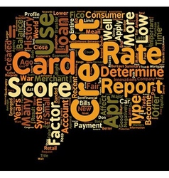 Why Your Credit Score Matters text background vector image