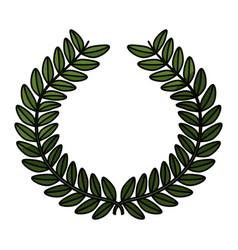 Wreath leaves ornament vector