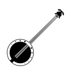 Banjo black icon vector image vector image