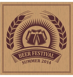 Beer festival icon vector image vector image