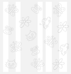 childish white background vector image vector image
