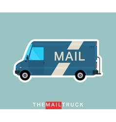 Mail truck isolated vector image