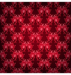 Seamless with damask floral ornament vector image