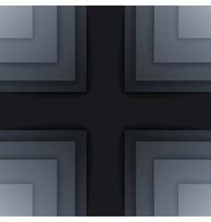 Abstract dark gray paper rectangle shapes vector image vector image