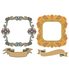 decorative hand drawn frames vector image vector image