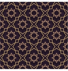 Oriental seamless pattern of purple and gold Thin vector image