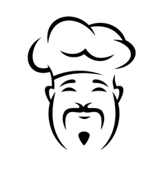 Cheerful chinese chef with a moustache vector image