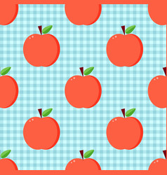 red apples seamless pattern vector image vector image