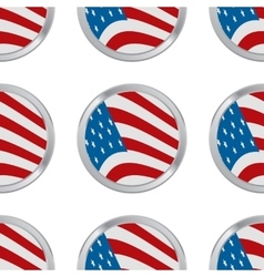 seamless pattern with USA flag vector image vector image