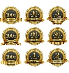 Set of 100 guarantee golden labels vector