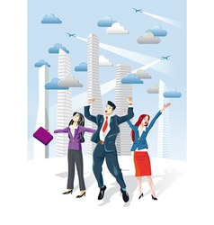Successful Executives Jumping vector image vector image