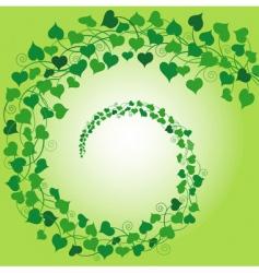 swirl of hearts green vector image