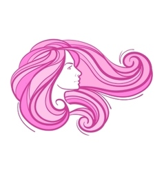 abstract beautiful young girl with long hair vector image